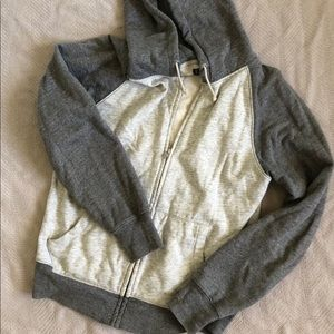 Men's Medium J. Crew Grey & Cream Zip Up Hoodie